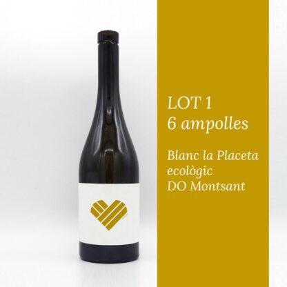 fotografia del lot 1 de 6 ampolles del vi Blanc la Placeta ecològic DO Montsant